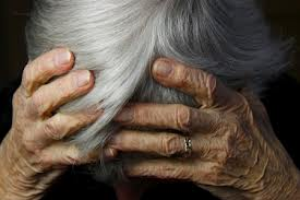 Elderly female member of our community experiencing elder abuse fraud, assault, neglect, undue influence, harassment, wills & estates